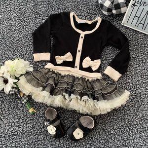 So cute! Baby/Toddler Tutu Dress w/shoes - Sz 18mo